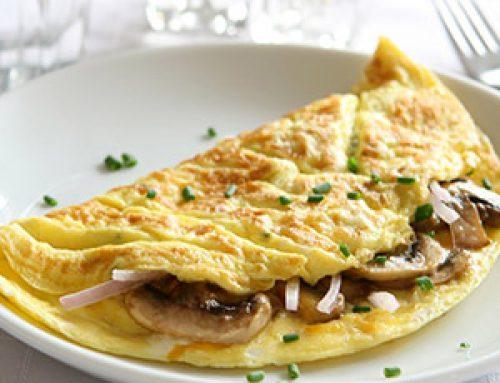Ομελέτα με μανιτάρια & ζαμπόν ή τυρί