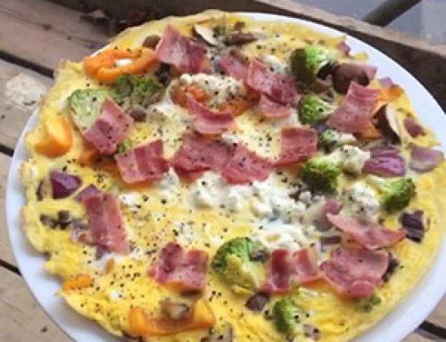 Ομελέτα με γεύση πίτσας